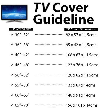 tv cover dimensions